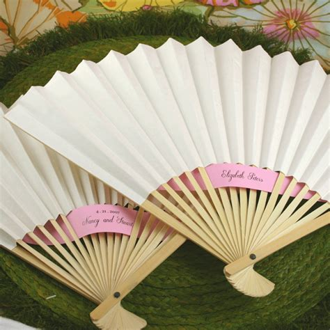 How To Make Paper Fans For Weddings - white paper wedding fans