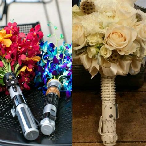 Wedding Lightsaber by Wars Disney Wedding Lightsaber Boquet Flower Holder