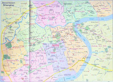 shanghai map shanghai downtown map map of shanghai china shanghai travel map
