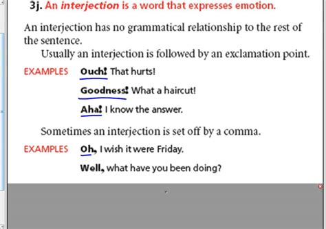 what is meaning of template sharp interjections 7