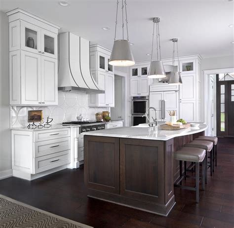 Dark Kitchen Island brown kitchen island with gray sandstone countertops and