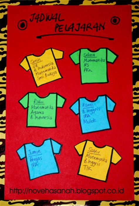 desain jadwal pelajaran kreatif kreasi dari kertas bekas jadwal pelajaran