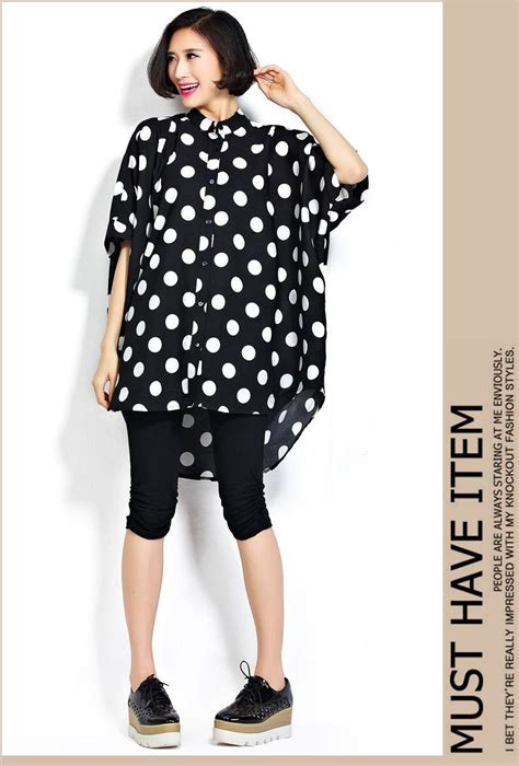 45647 Blouse Batwing Rosa 1 new 5xl 6xl s plus size blouses polka dot style oversizes batwing sleeve