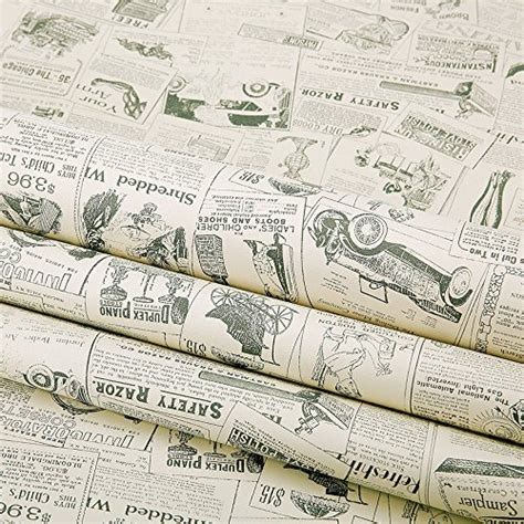 Decorative Drawer Liners by Simplelife4u Vintage Newspaper Decorative Contact Paper