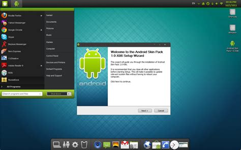 windows 7 for android viste de android a windows 7 con android skin pack 1 0 el androide libre