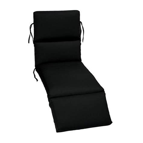 black outdoor chaise lounge cushions home decorators collection sunbrella black outdoor chaise