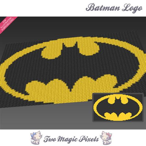 crochet pattern batman logo batman logo inspired crochet blanket twomagicpixels
