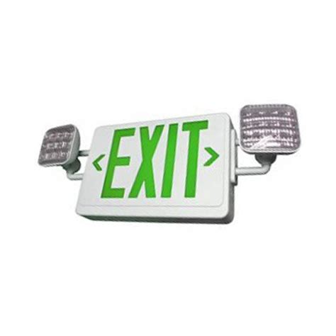 green led emergency lights led exit sign emergency light combo battery backup