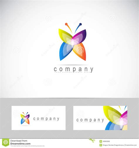 word business card butterfly templates free butterfly logo stock vector image 49963098