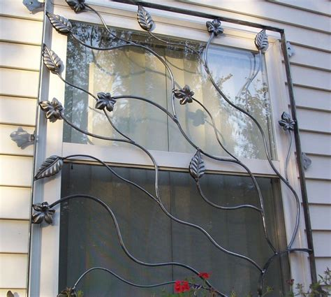 decorative window guards cast iron security bars for window leaves and vines