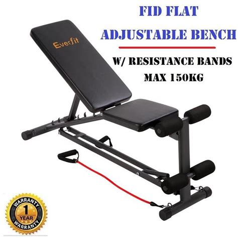 resistance bands bench press fid flat adjustable bench press w resistance bands gym