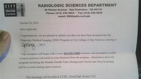 Program Acceptance Letter Org 187 Archive 187 Accepted Into Ccsf Dmi Program