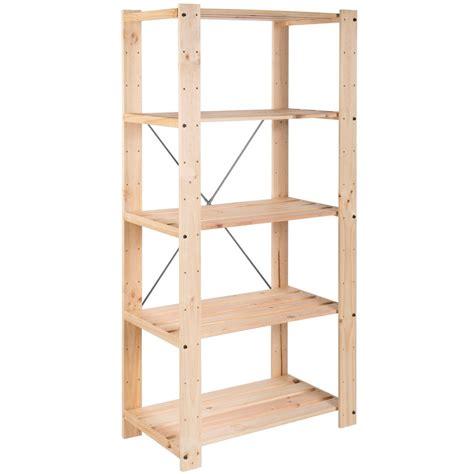 scaffale in legno astigarraga scaffale in kit pino grezzo shop su