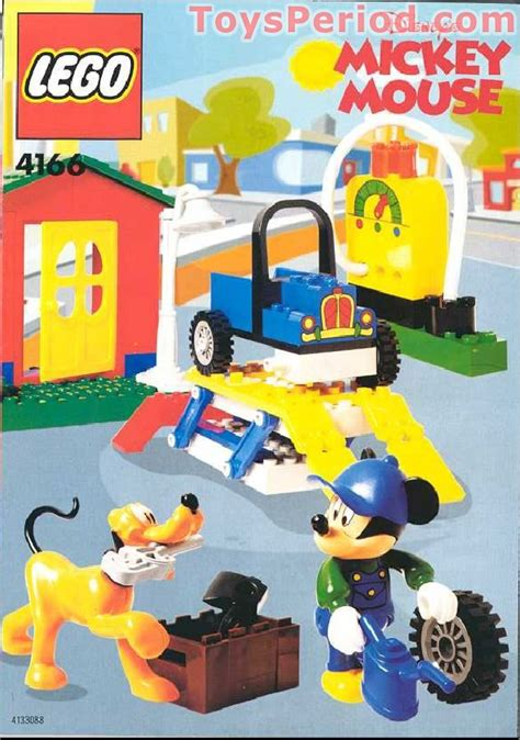 J 48400 Set Overall Mickey lego 4166 mickey s car garage set parts inventory and