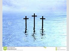 Three Crosses Over Water Reflection Stock Images - Image ... Gates Of Heaven Design