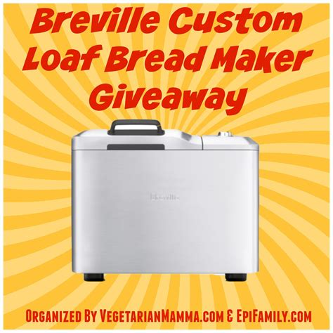 Bread Giveaway - breville custom loaf bread maker giveaway life after wheat
