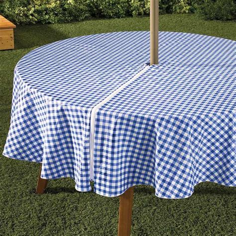 Patio Table Cover With Umbrella Zipper by Zippered Table Cloth