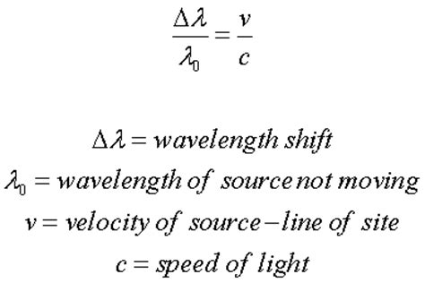 formulas doppler shift