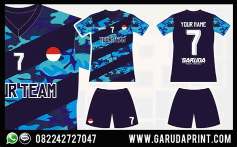 jersey futsal desain depan belakang kerah desain baju bola futsal terbaru garuda print garuda print