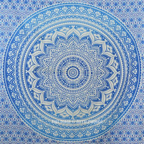 Floor And Decor Coupon by Small Blue Goddess Ombre Mandala Tapestry Floral Wall