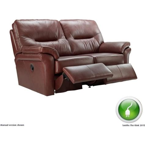 g plan washington leather sofa g plan washington leather 2 seater electric recliner sofa