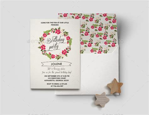 Floral Birthday Card Template by 27 Birthday Invitation Card Templates Free Premium