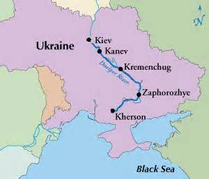 Where is the dnieper river questions and answers
