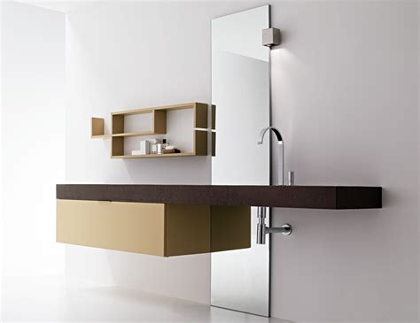 Modern Italian Bathroom Vanities Milldue Kubik 55 Wenge Modern Italian Bathroom Vanities
