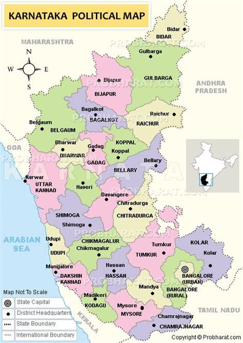 Karnataka District Map Outline by Image Gallery Karnataka Road Map Printable