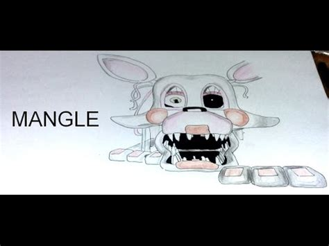 imagenes de fnaf para dibujar faciles drawing mangle fnaf youtube