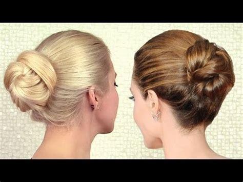 elegant sleek bun updo inspired by angelina jolie | long