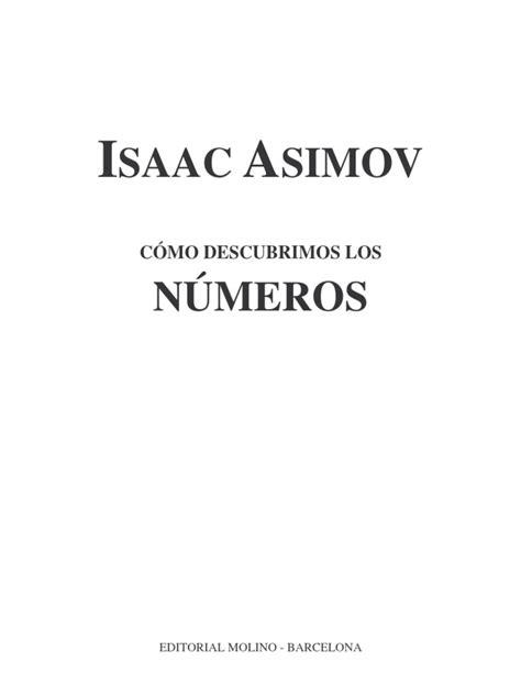 Isaac Asimov Como Descubrimos Los Numeros | Alfabeto