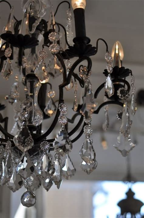 Black Iron Chandelier With Crystals black wrought iron chandelier can t find the