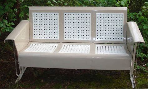 retro glider bench vintage glider company metal gliders old porch gliders