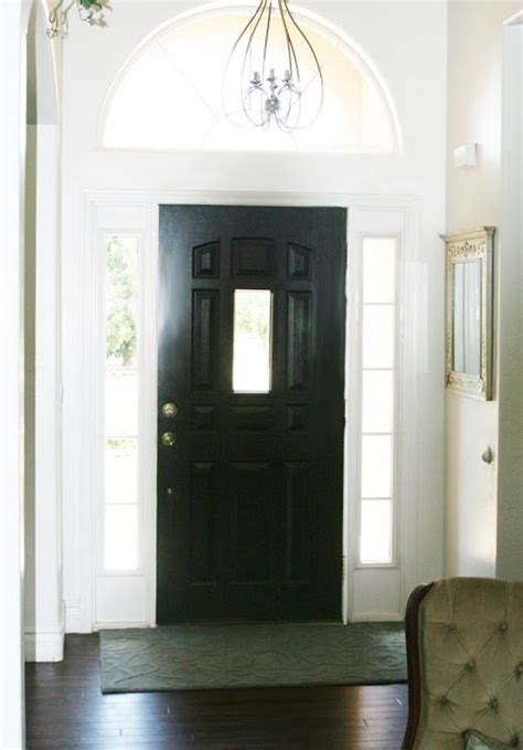 black interior front door for the home
