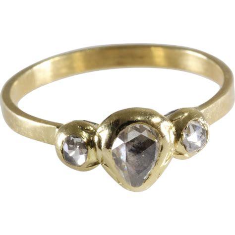 georgian ring 18k gold cut antique