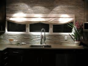 Faux Stone Kitchen Backsplash Stone Backsplash Flickr Photo Sharing