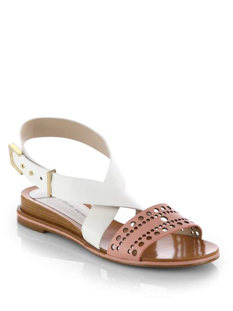 derek lam sandals 10 crosby derek lam pilar lowwedge leather sandals in