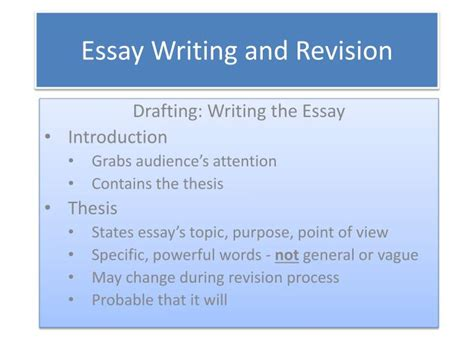ppt essay writing and revision powerpoint presentation id 2637199