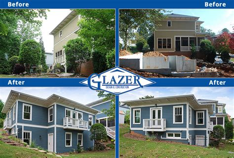 before and after home home renovation before and after glazer construction atlanta