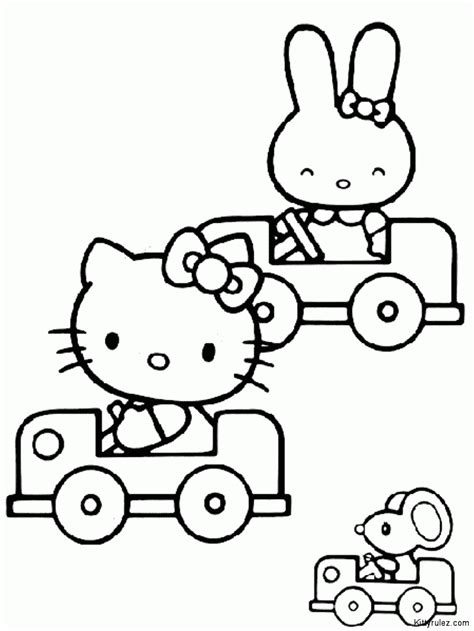 hello kitty in spring colouring pages az coloring pages