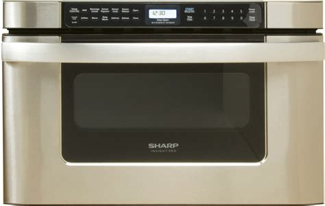 Built In Drawer Microwave by Sharp Kb6524p 24 Inch Built In Microwave Drawer With 1 2