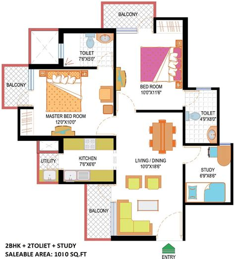 study room floor plan nimbus hyde park sector 78 noida