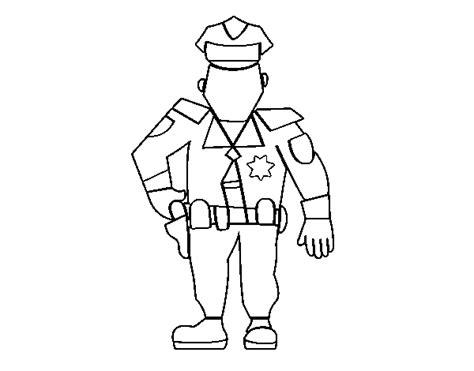 dibujos para colorear de policias dibujos de policia para colorear dibujo de un policia en