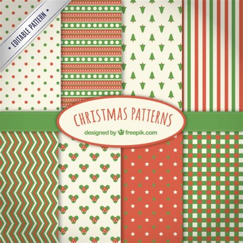christmas patterns year 1 collection of christmas patterns vector premium download