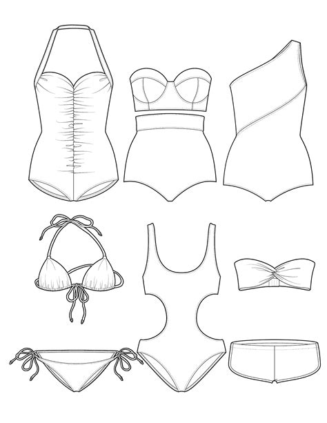 coloring page bathing suit the spinsterhood diaries swimsuit sunday another