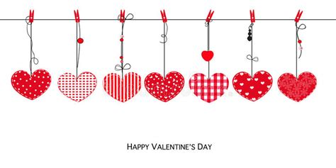 Valentines Day Decoration Happy Valentines Day Card With Hanging Love Valentines