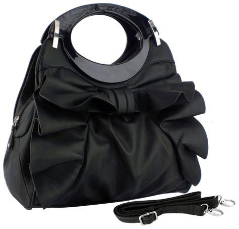 Maxy Combi Tafetta dacia large bowknot ruffle satchel hobo handbag raluca