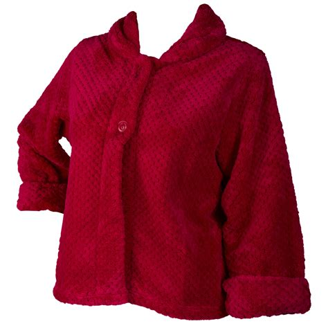 fleece bed jacket womens soft waffle fleece bed jacket slenderella luxury