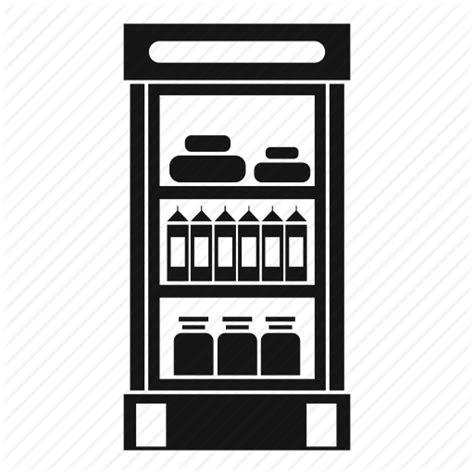 Book Shelf Icon by Food Fridge Grocery Shelf Shop Store Supermarket
